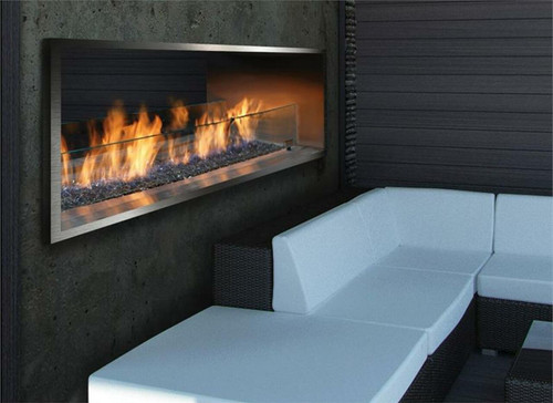 """Barbara Jean 36"""" Linear See Through Outdoor Gas Fireplace"""
