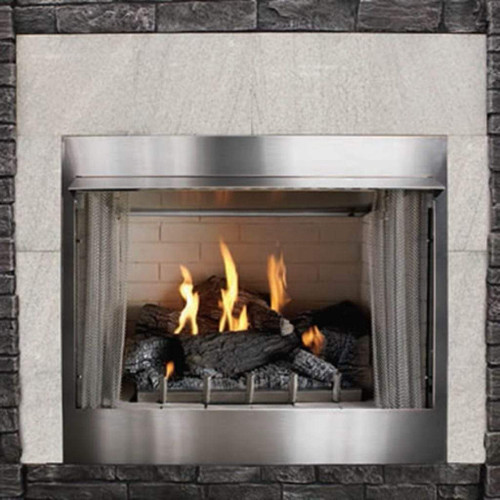 Carol Rose Traditional Outdoor Gas fireplace