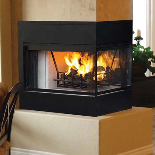 "Lennox 3 Sided Propane Fireplace: Majestic Designer Series See-Thru Wood Burning Fireplace 42"""
