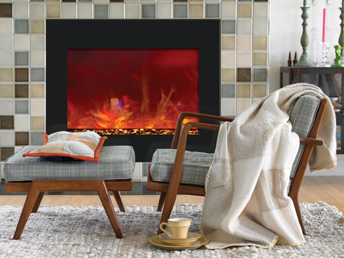 """AMANTII ZECL-39-4134 39"""" ZERO CLEARANCE ELECTRIC FIREPLACE"""