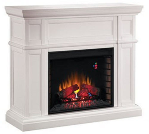 CLASSIC FLAME ARTISAN ELECTRIC FIREPLACE WITH WHITE MANTEL