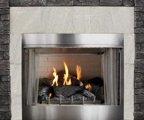 """Carol Rose 36"""" Traditional Outdoor Fireplace"""