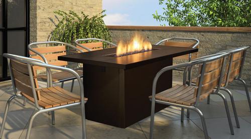 REGENCY ISLAND TABLE GAS FIRE TABLE