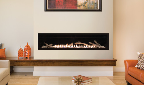 Boulevard 60 inch Vent Free Gas Fireplace With Optional Logs Shown