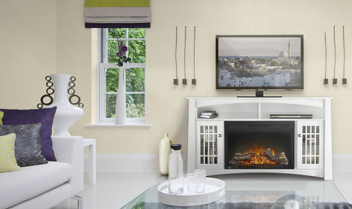 The Adele  Product Code - NEFP27-0815W  Electric Fireplace Mantel Package