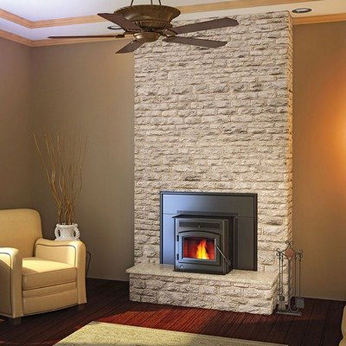 Timberwolf Wood Burining Fireplace Insert Package With