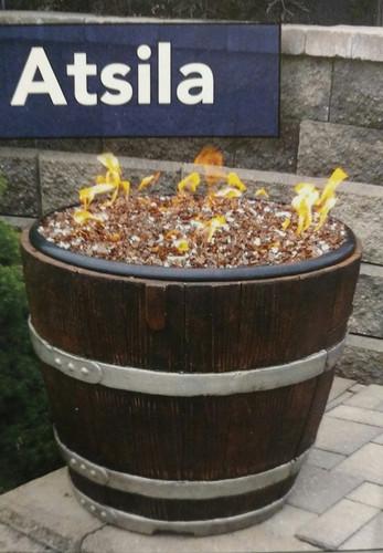 Atsila Wine Barrel Gas Fire Pit