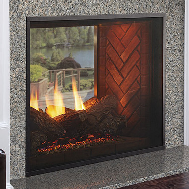Fortress See Through Indoor To Outdoor Gas Fireplace