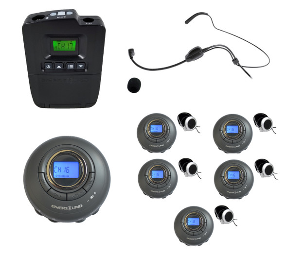 5-Person Portable Translation/Tourguide System  (3-year Warranty)