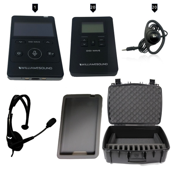 Williams Sound DWS TGS 20 400 ALK Tour Guide System