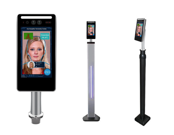 Temperature Screening Kiosk with Access Control & Face Recognition - Featuring High Resolution Sensor and RFID card reader
