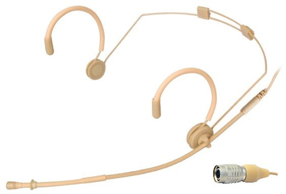 MIC-550AT Professional Headset Microphone for Audio-Technica Wireless Systems. Beige.