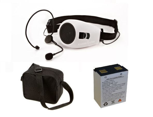 Enersound PA-200 Bundle - Personal Waistband Voice Amplifier with Carrying Pouch and Replacement Battery