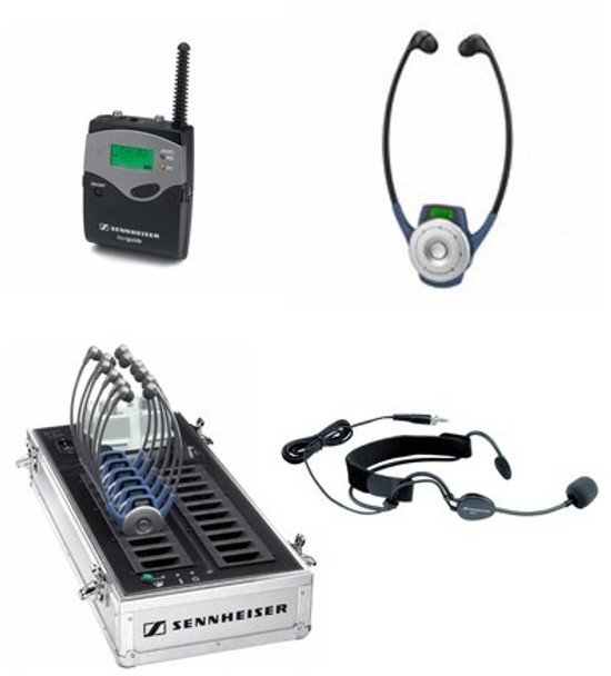 Sennheiser  10-Person Tourguide System with Bodypack Transmitter