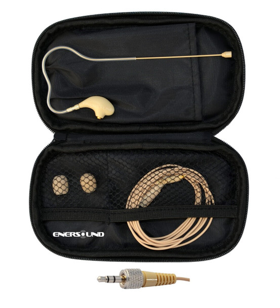 MIC-400SEN Professional Miniature Earset / Headset Microphone for Sennheiser Wireless Systems. Beige.