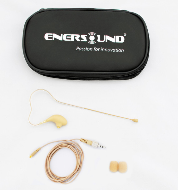 MIC-400SEN Professional Miniature Earset / Headset Microphone for Sennheiser Wireless Systems. Beige