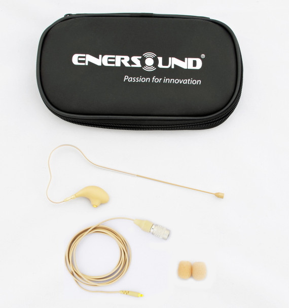 MIC-400AT Professional Miniature Earset / Headset Microphone for Audio-Technica Wireless Systems. Beige