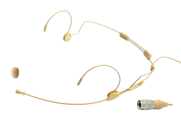 MIC-500AT Professional Headset Microphone for Audio-Technica Wireless Systems. Beige.