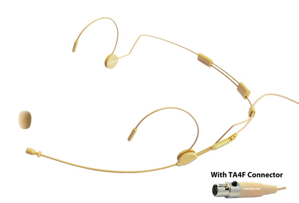 MIC-500SHU Professional Headset Microphone for Shure Wireless Systems. Beige.