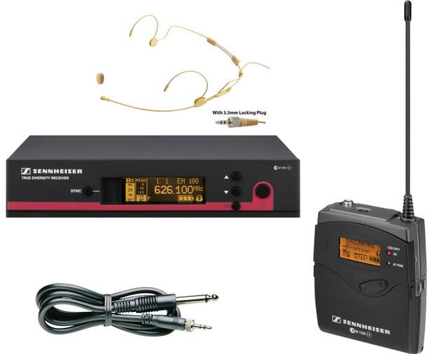 Sennheiser Instrument/Headset Wireless System Bundle EW 172 G3-A (w/MIC-500SEN)