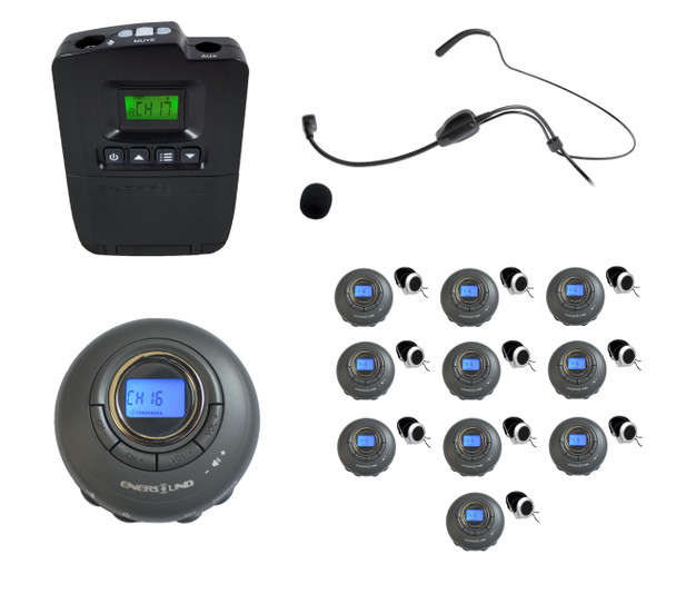 10-Person Portable Translation/Tourguide System  (3-year Warranty)