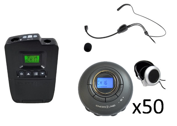 50-Person Portable Translation/Tourguide System  (3-Year Warranty)