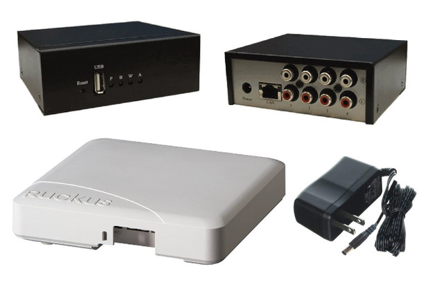 Audio Over WiFi Broadcast Server + Ruckus Access Point w/Power Supply