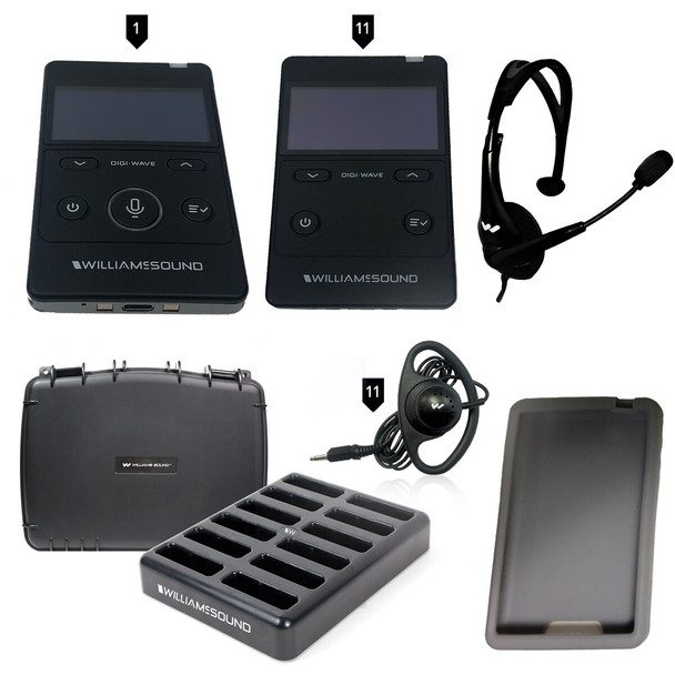Williams Sound DWS TGS 11 400 RCH Tour Guide System