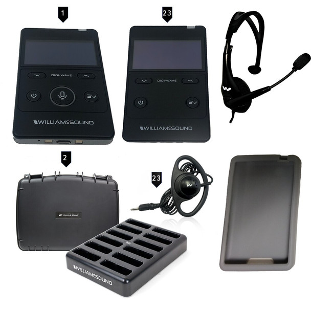 Williams Sound DWS TGS 23 400 RCH Tour Guide System