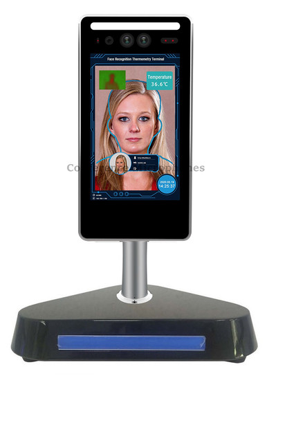 Temperature Verification Kiosk with Face Detection and Scanner - US-based support and warranty - Same day shipping