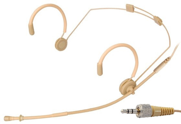 MIC-550SEN Professional Headset Microphone for Sennheiser  Wireless Systems. Beige.