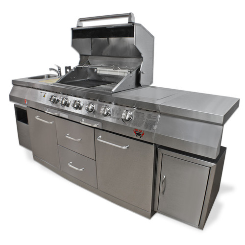 Bull BBQ Stainless Steel Outdoor Long Grill Kitchen