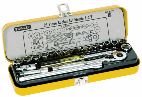 Stanley Socket Set 21pce Metric