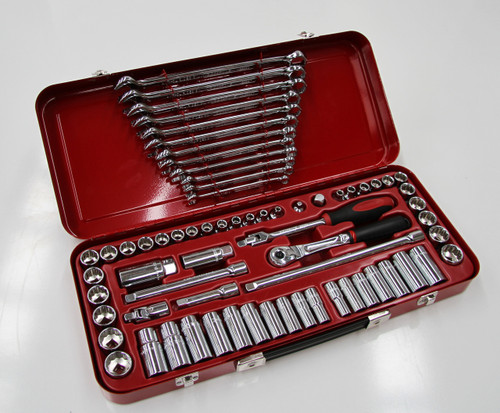 Sidchrome Drive Socket and Spanner Combination Set