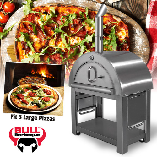 Bull BBQ Stainless Steel Wood Fired Pizza Oven