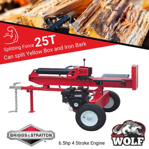 25/40T Timberwolf Log Wood Timber Splitter 6.5hp Briggs and Stratton