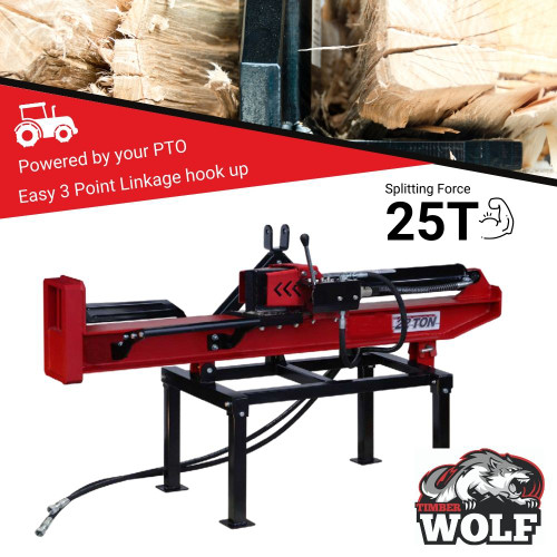 Timberwolf 25T PTO Hydraulic Log Splitter