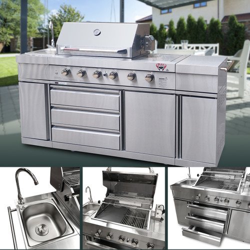 Bull BBQ Large 6 Burner with Sink