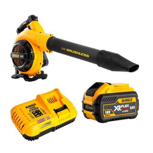 DeWalt 54V XR FLEXVOLT Blower Kit + 1x Battery 9Ah Fast Charger DCM572X1-XE