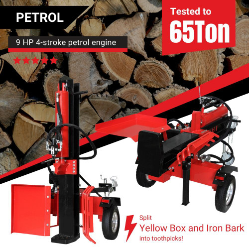 BBT 40/65T Petrol Hydraulic Wood Log Splitter