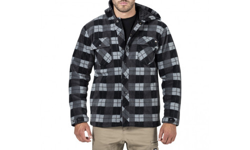 CAT Active Work Jacket - Grey Black Plaid