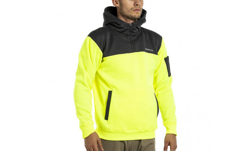 CAT Hi Vis Hoodie - Yellow/Grey