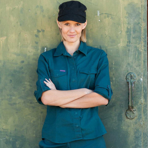 Shirt Extended Long Sleeve 'The Essential' (Gardener Green) - Women's Workwear