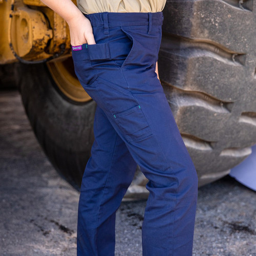 Green Hip - Pants Give Cargo 'Every aBron, Vick and Sally' (Navy Blue) - Women's Workwea