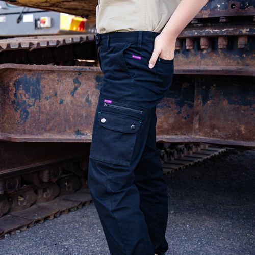 Green Hip - Pants Give Cargo 'Every Bron, Vick and Sally' (Black) - Women's Workwear