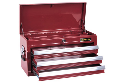 Stanley 3 Drawer Red Tool Box