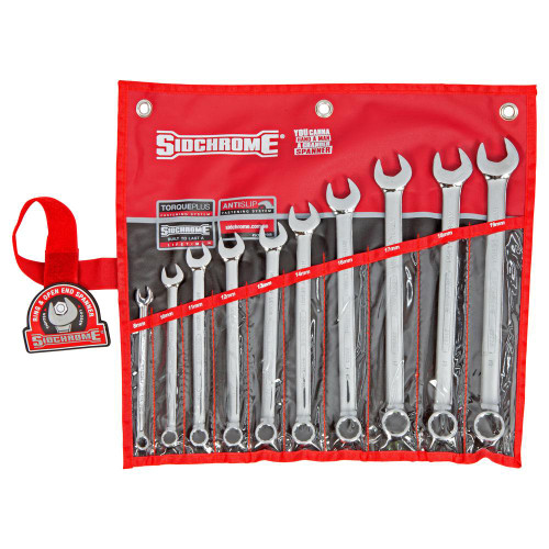 Sidchrome SCMT22208 10pce Metric Ring & Open End Spanner Set