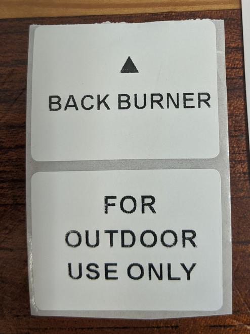 Compact BBQ sticker set