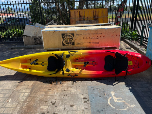 3.9M Double Fishing Kayak - Recreational Sit on Top 2+1 Twin 2 Person 2 Man Tandem Two Seater Family Kayak