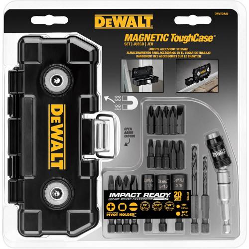 DEWALT IMPACT READY 20 Piece Magnetic TOUGH CASE Screwdriving Set